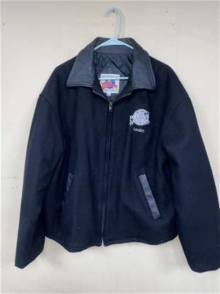 DAVID'S PERSONAL PLANET HOLLYWOOD LONDON FLEECE LEATHER