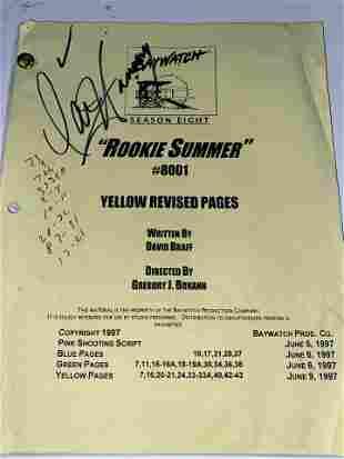 "BAYWATCH SEASON 8 REVISED SCRIPT ""ROOKIE SUMMER"""