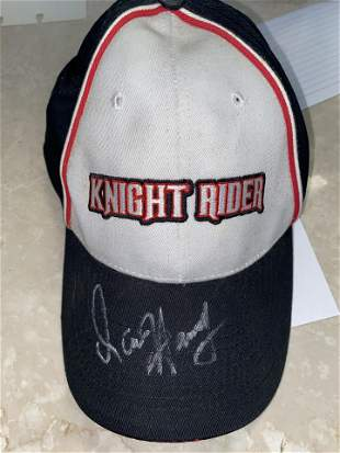 AUTOGRAPHED KNIGHT RIDER HAT CAP