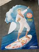 THE HOFF ADVERTISING CARDBOARD STANDEE