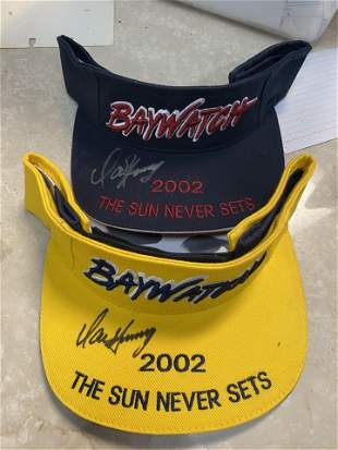 PAIR OF BAYWATCH SIGNED VISORS