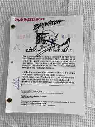 VERY RARE BAYWATCH WRITERS BIBLE