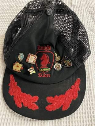 VINTAGE SIGNED KNIGHT RIDER HAT