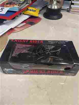 KNIGHT RIDER 1/5 SCALE MODEL TOY AUTOGRAPHED