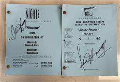 LOT OF TWO AUTOGRAPHED SCRIPTS