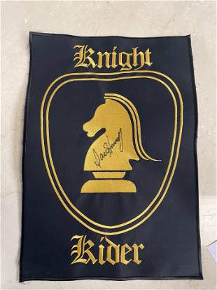 KNIGHT RIDER JACKET LARGE PATCH AUTOGRPAHED