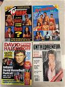LOT OF 4 AUTOGRAPHED MAGAZINES