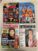 LOT OF 4 SIGNED MAGAZINE COVERS