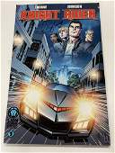 KNIGHT RIDER COMIC POSTER SIGNED