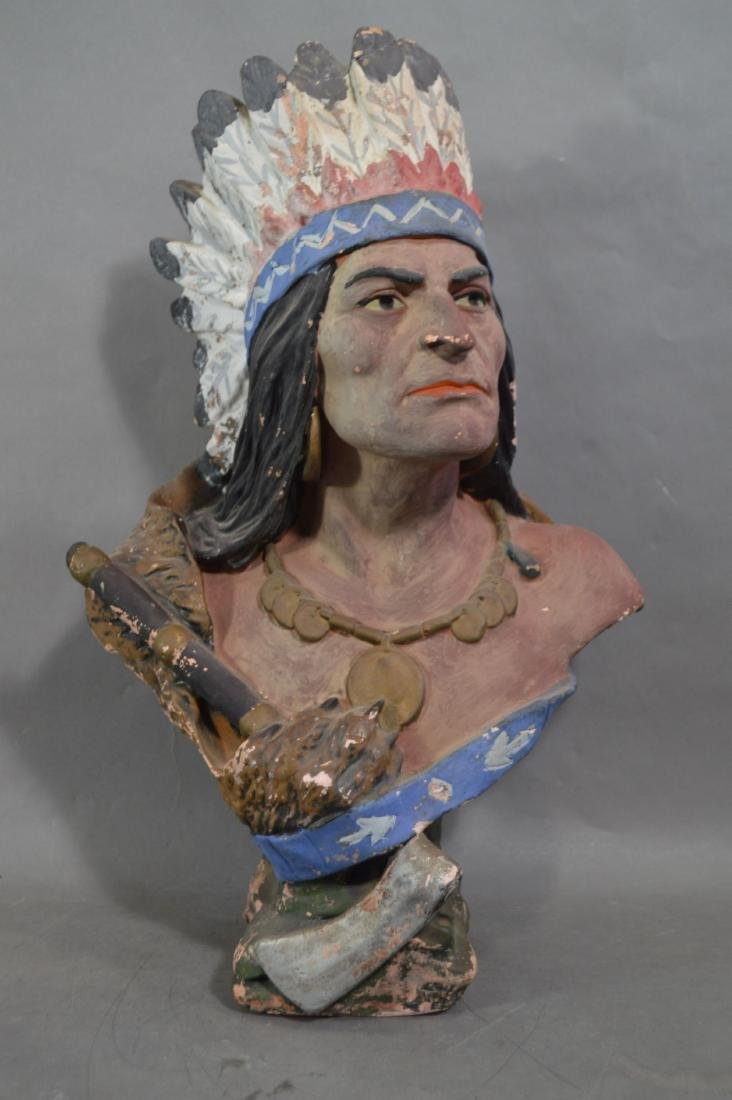 "21 "" REDWARE CIGAR STORE COUNTER TOP CIGAR STORE INDIAN"