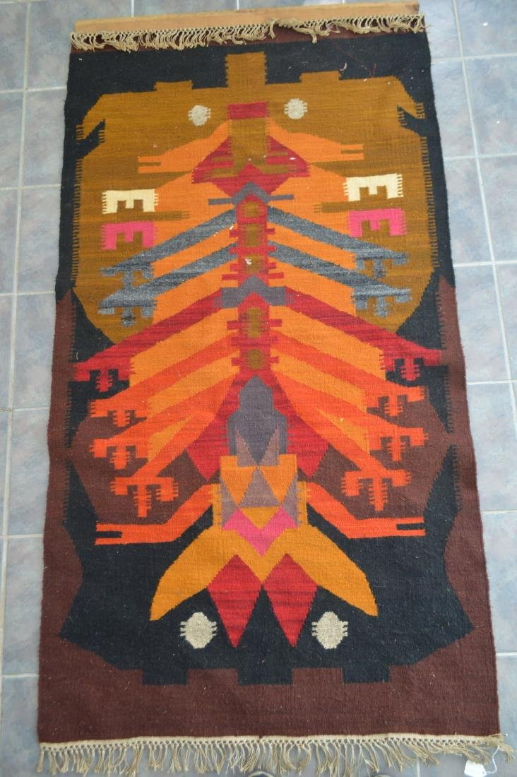 "LAGE NATIVE AMERICAN OR CENTRAL AMERICAN RUG 40"" X 77"""