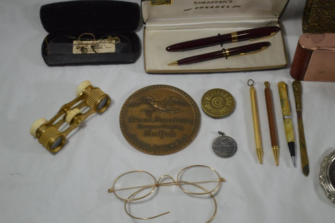 OPERA GLASSES,SCHAEFFER PEN SET, VINTAGE SPECTACLES AND - 2