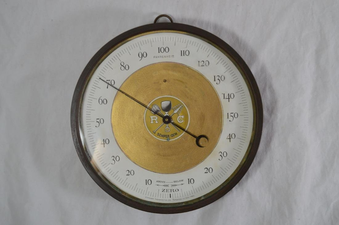 "1885 PATENTED STANDARD THERMOMETER 9"" DIAMETER"