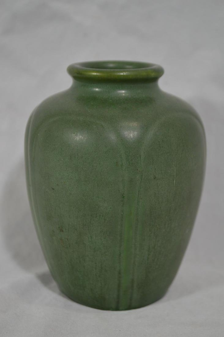 """4 3/4"""" HAMPSHIRE POTTERY, GREEN MATTE ARTS AND CRAFTS - 2"""
