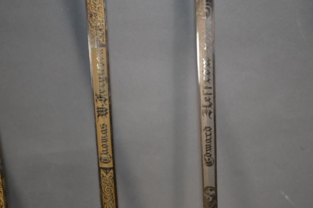 "5 CEREMONIAL MASONIC SWORDS. 38"" AND 35 1/2""L - 7"