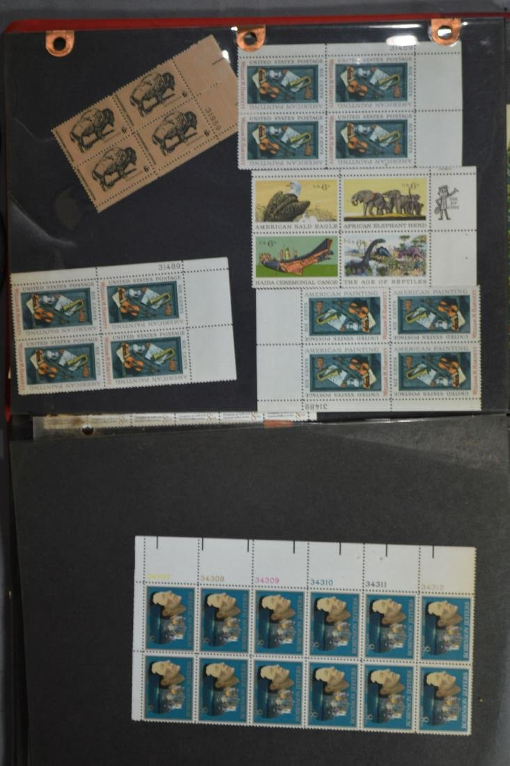 LARGE STAMP LOT INCLUDES MINT BLOCKS, SHEETS , US AND - 4