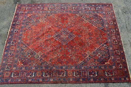"19TH CENTURY ROOM SIZED PERSIAN RUG 163""X129"""