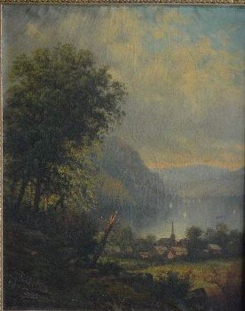 SIGNED OIL PAINTING LANDSCAPE PAINTING , 19TH  CENTURY - 2