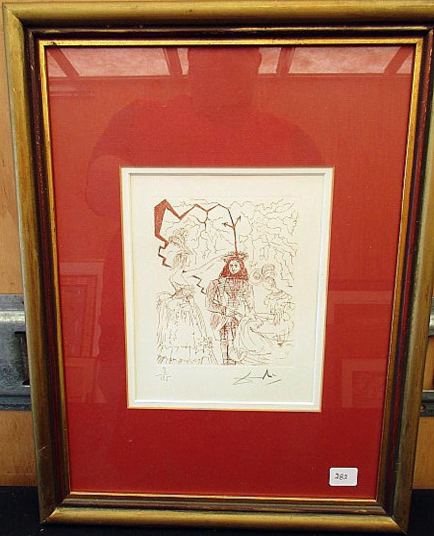 """""""WEDDING DAY"""" PENCIL SIGNED PRINT BY  SALVADOR DALI"""