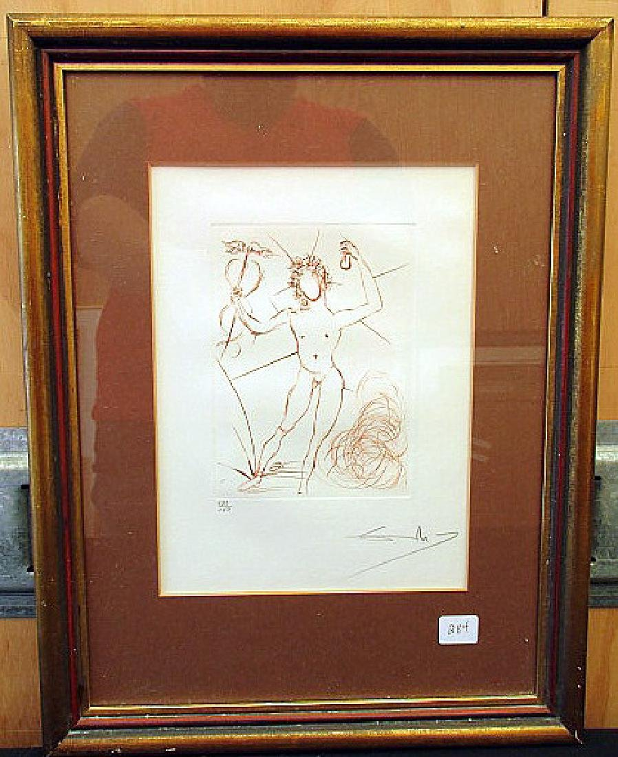 """HERMES"" PENCIL SIGNED PRINT BY SALVADOR DALI"