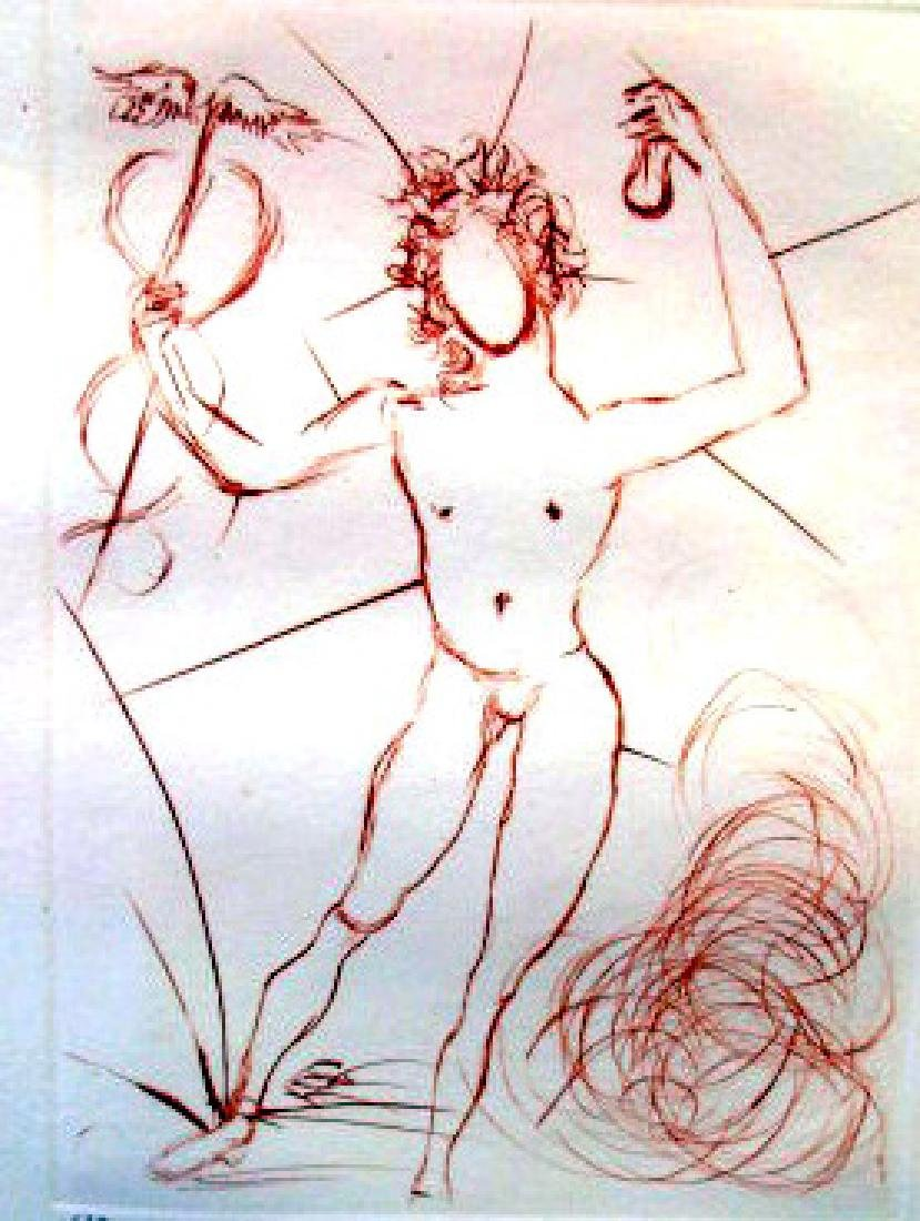 """HERMES"" PENCIL SIGNED PRINT BY SALVADOR DALI - 2"