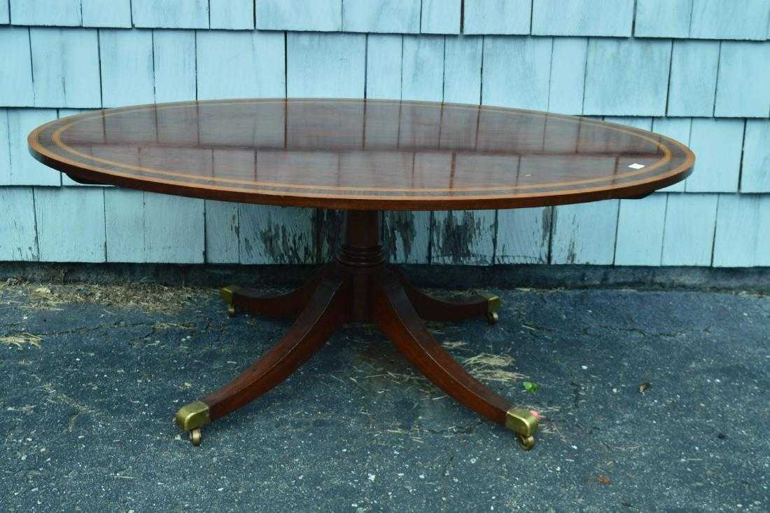 ANTIQUE OVAL INLAY DUNCAN PHYFE COFFEE TABLE