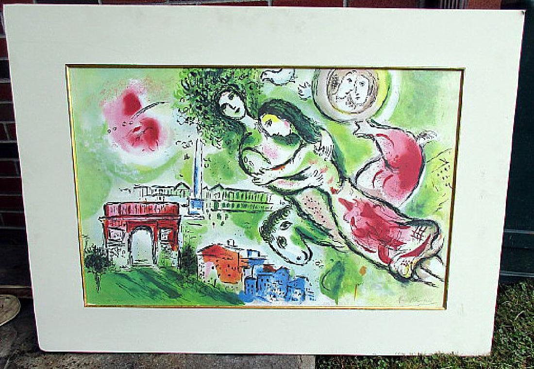 "Marc Chagall Large Print ""Paris"""
