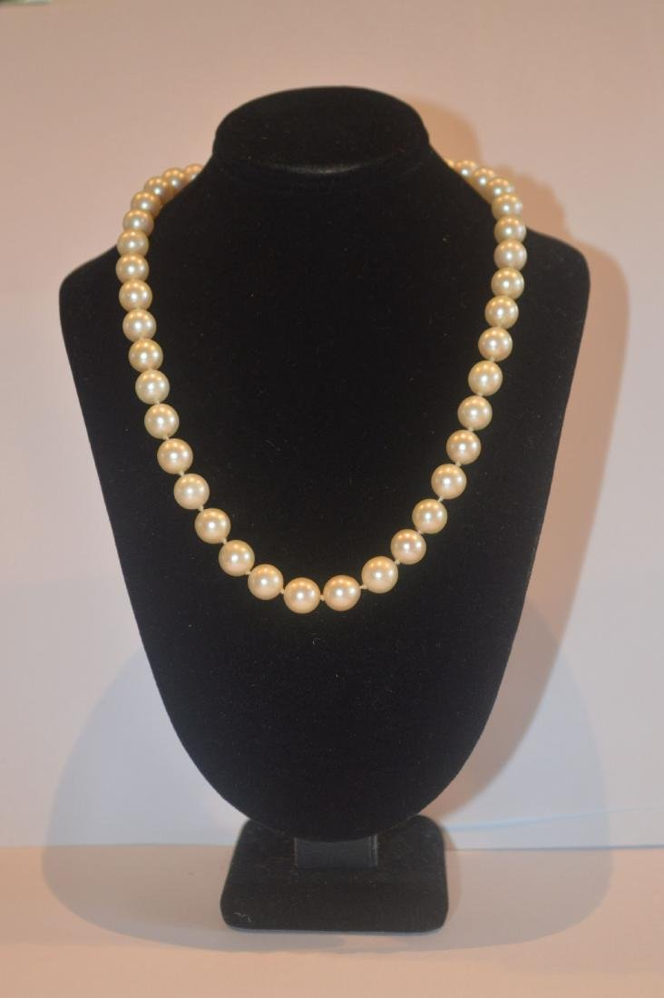 CARTIER PEARL NECKLACE WITH ENAMEL GOLD AND DIAMOND