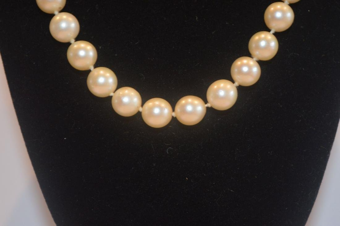 CARTIER PEARL NECKLACE WITH ENAMEL GOLD AND DIAMOND - 2
