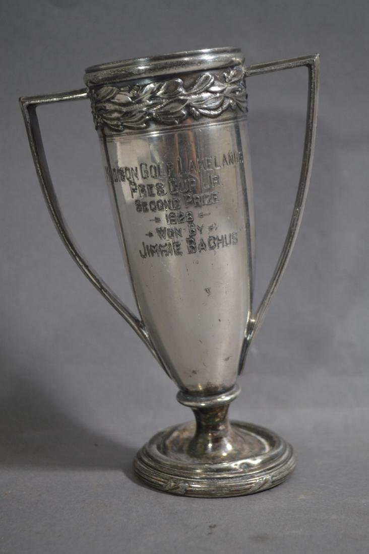 "SILVER PLATE JIM BACKUS 1925 GOLF TROPHY. 5 1/2""T"