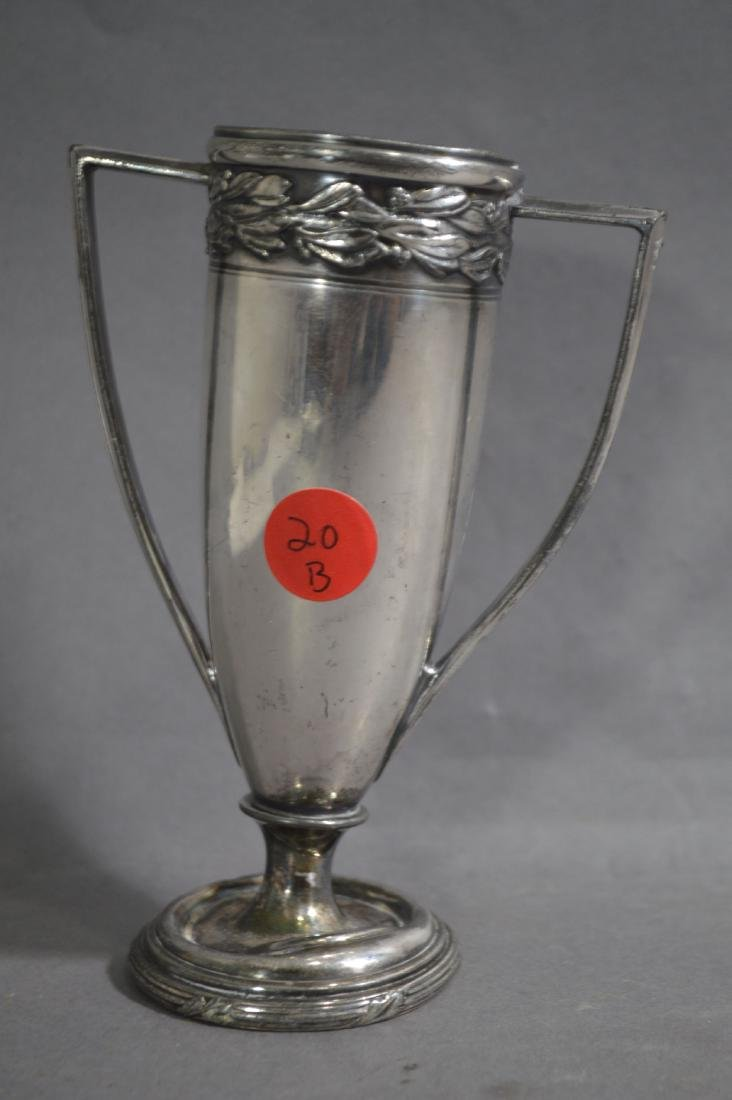 "SILVER PLATE JIM BACKUS 1925 GOLF TROPHY. 5 1/2""T - 2"
