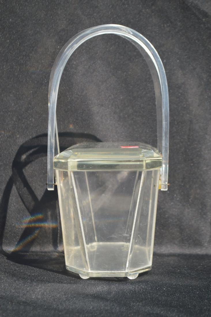"""LUCITE 1940's PURSE. 5 """" x 7"""" x 4 1/2""""  (FROM THE - 2"""