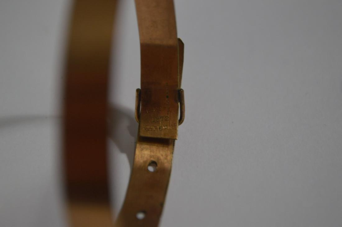 VICTORIAN GOLD BUCKLE BRACELET, GREEK KEY RING, AND 2 - 3