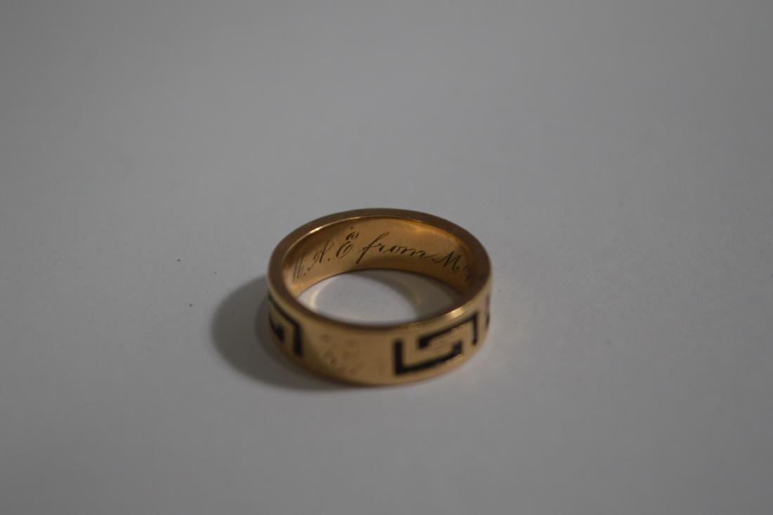 VICTORIAN GOLD BUCKLE BRACELET, GREEK KEY RING, AND 2 - 4