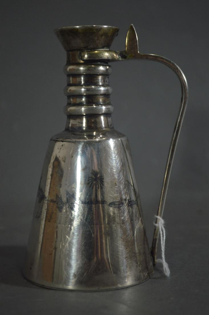 PERSIAN SILVER EWER MARKED ON BASE