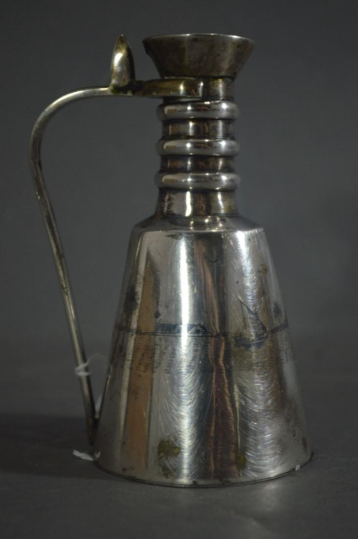 PERSIAN SILVER EWER MARKED ON BASE - 2