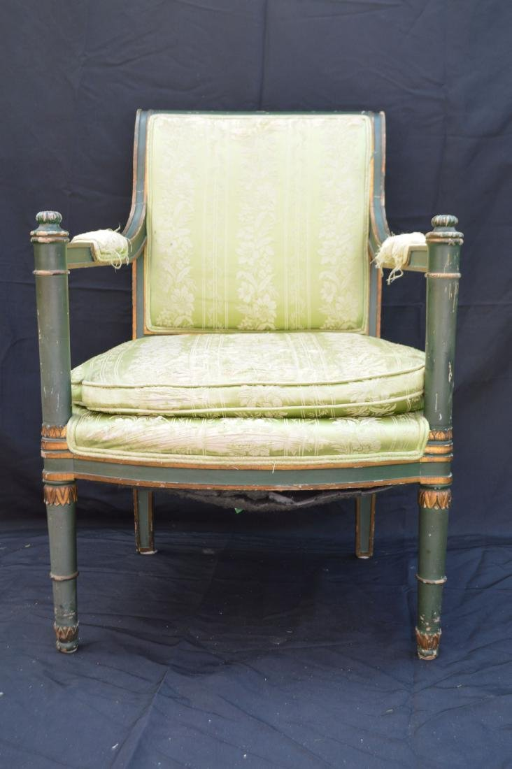 PAIR OF PAINTED FRENCH PROVINCIAL ARMCHAIRS . THE - 2