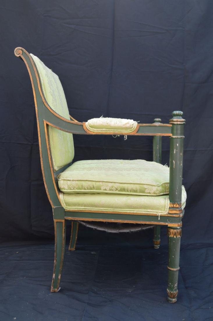 PAIR OF PAINTED FRENCH PROVINCIAL ARMCHAIRS . THE - 3