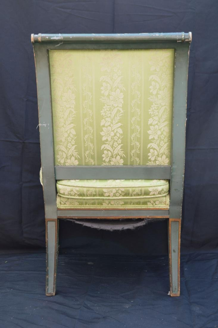 PAIR OF PAINTED FRENCH PROVINCIAL ARMCHAIRS . THE - 4