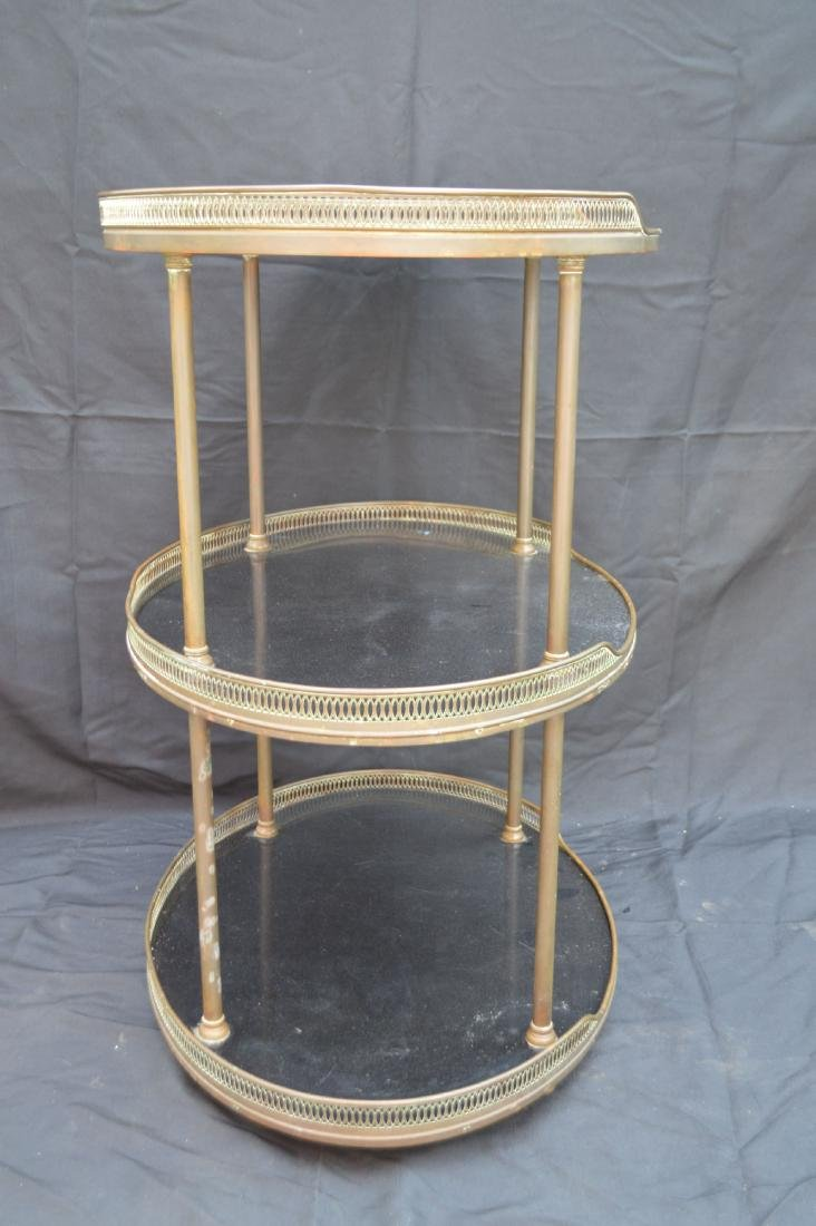 """3 TIER MIDCENTURY MARBLE TOPPED LIQUOR STAND. 31"""" X 27"""" - 3"""
