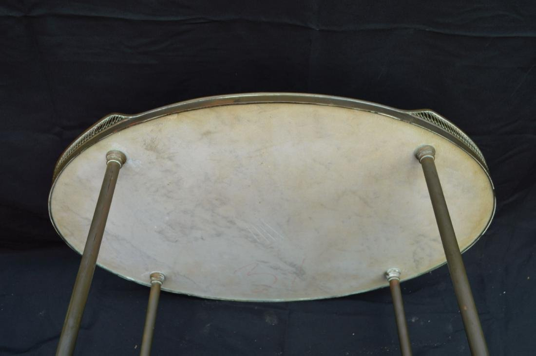 """3 TIER MIDCENTURY MARBLE TOPPED LIQUOR STAND. 31"""" X 27"""" - 5"""