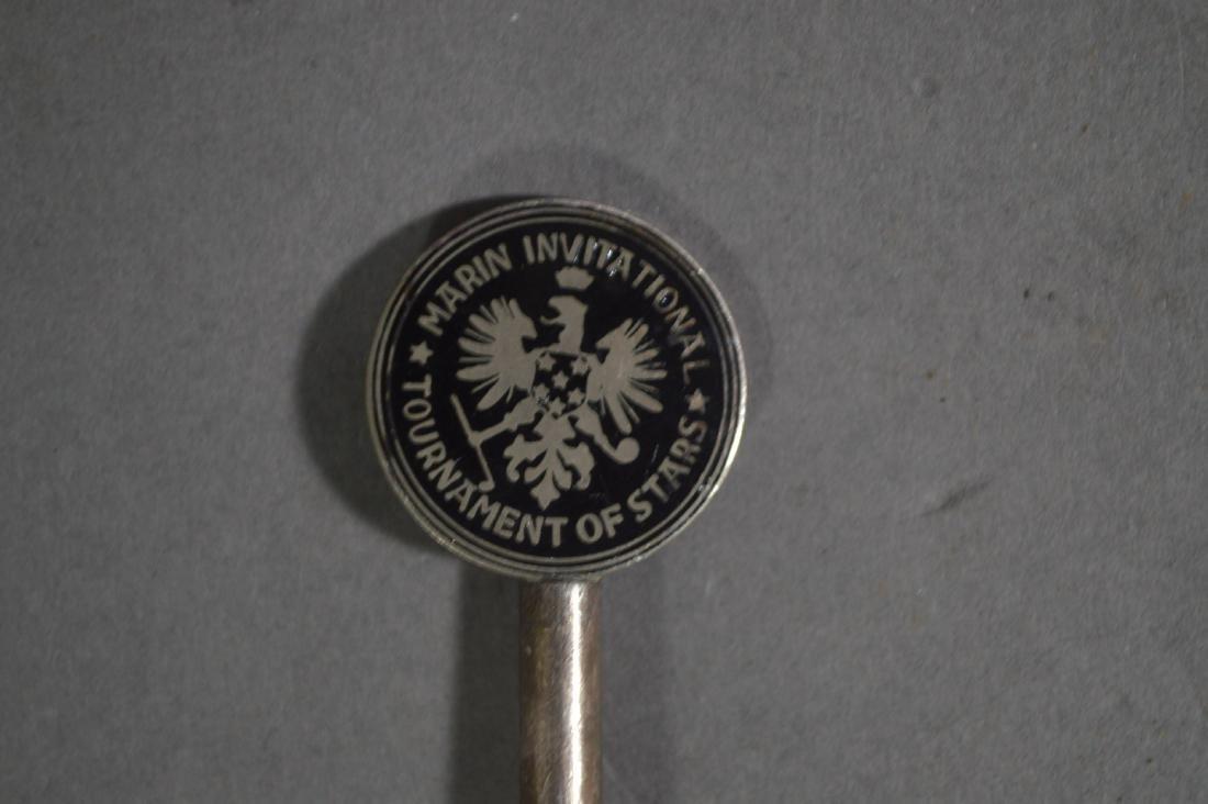 STERLING SILVER COCKTAIL STIRRER, ENAMELED GOLF MARIN - 2