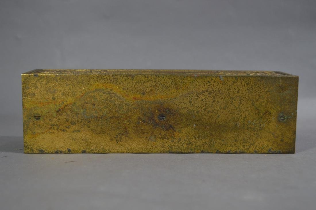 "TIFFANY STUDIOS GILT BRONZE LETTER HOLDER #1878. 9 1/2"" - 4"