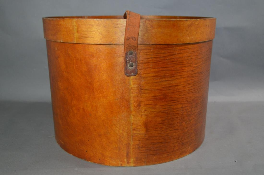 """LARGE SHAKER PANTRY BOX #3 WITH LEATHER STRAPS. 16""""D x - 2"""