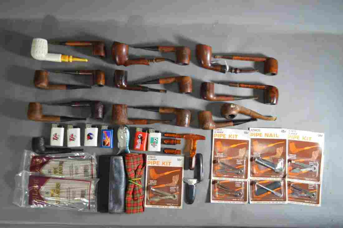 """ANTIQUE PIPE COLLECTION. 6"""" AND SMALLER"""