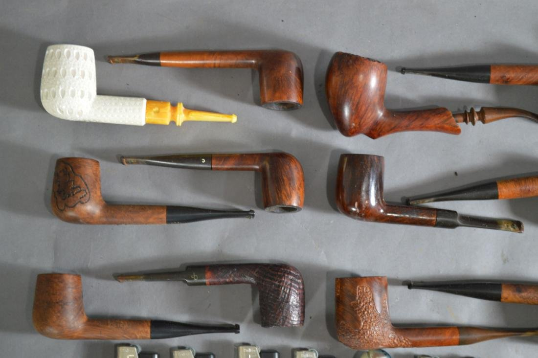"ANTIQUE PIPE COLLECTION. 6"" AND SMALLER - 2"