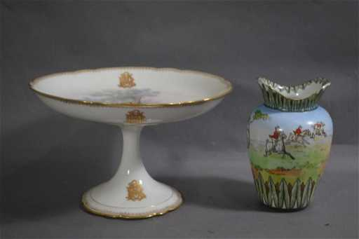 Old Paris Porcelain Taza And A Royal Doulton Vase 9