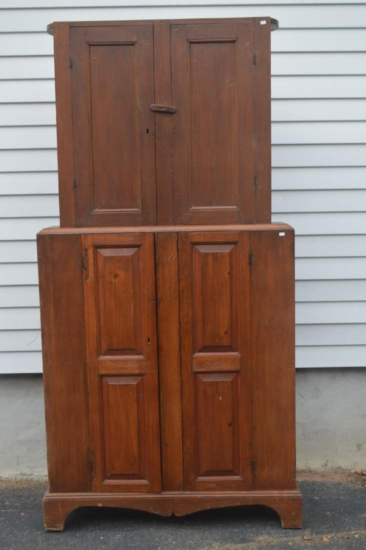 "19TH CENTURY JELLY CUPBOARD. NARROW PROFILE. 78"" x 39"""