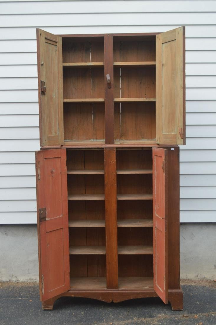 "19TH CENTURY JELLY CUPBOARD. NARROW PROFILE. 78"" x 39"" - 2"