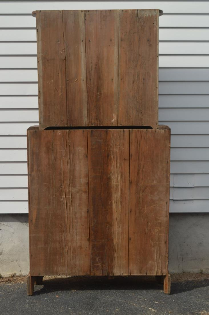"19TH CENTURY JELLY CUPBOARD. NARROW PROFILE. 78"" x 39"" - 4"